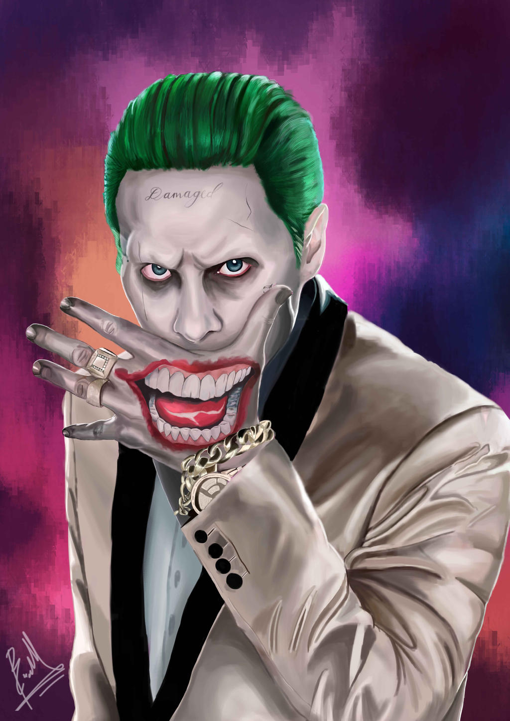 The joker jared leto digital painting by brianmarianto for Joker immagini hd