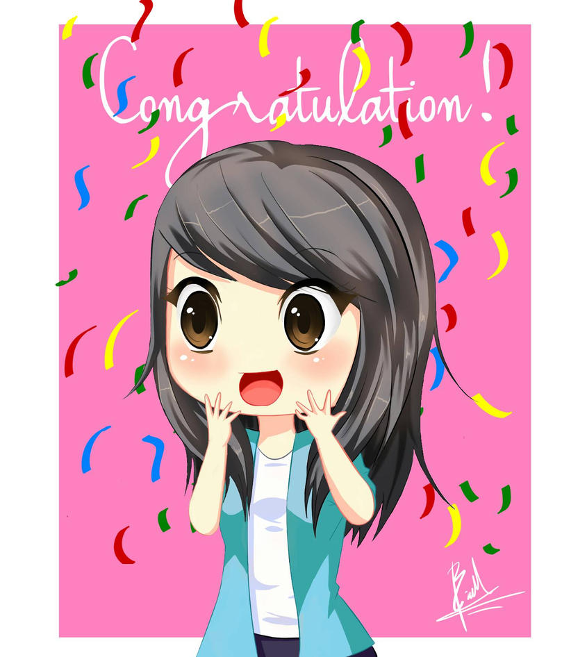 Congratulation! (Girl Chibi) by brianmarianto