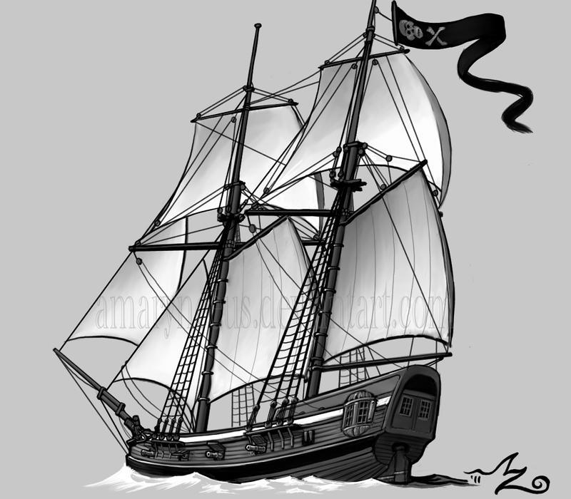 Pirate Schooner by Amarynceus on DeviantArt