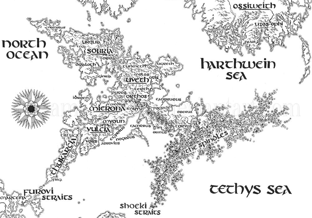 Isle of Harth Map II by Amarynceus