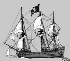 Pirate Ship by Amarynceus