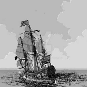 Pirate 'Frigate' c.1670