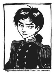 Daily Drawing 0014 - Captain Pyrrha by Amarynceus