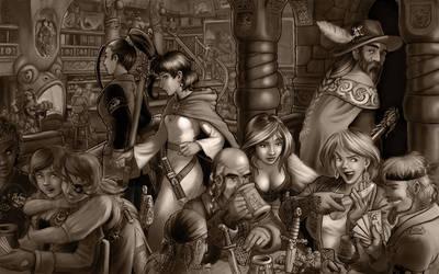 Tavern 'Sketch' WIP 5 by Amarynceus