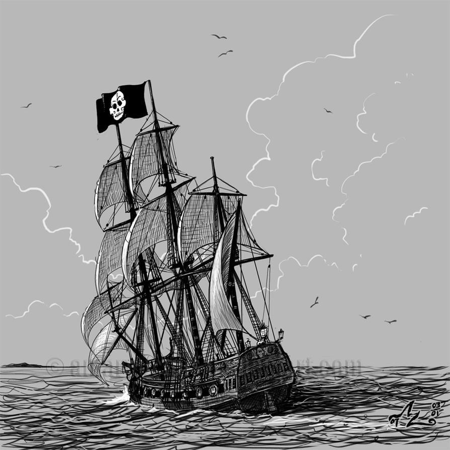 Pirate Ship Sketch by Amarynceus