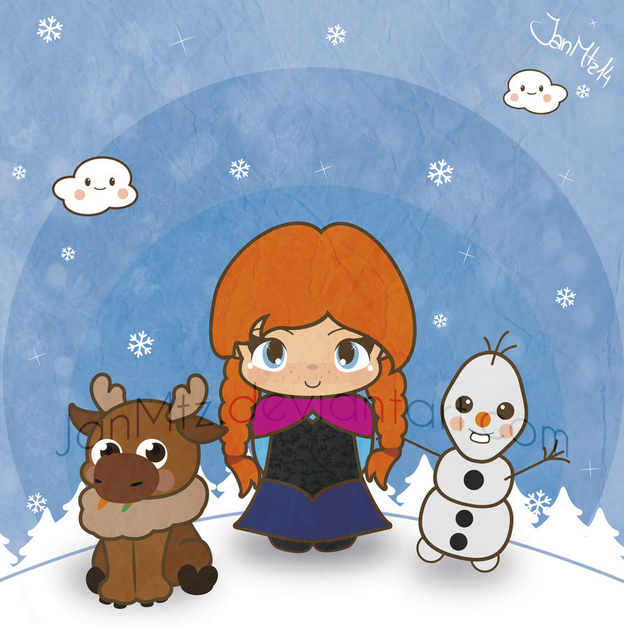 Sven Anna and Olaf wish you a merry Christmas! by JanMtz on DeviantArt
