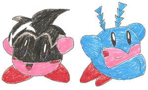 Kirby Hats: Buzzboy + The Tick by BlackCarrot1129