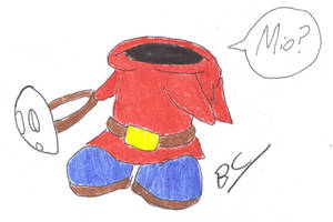 Shy Guy with no mask... by BlackCarrot1129