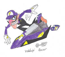 Waluigi in F-Zero by BlackCarrot1129