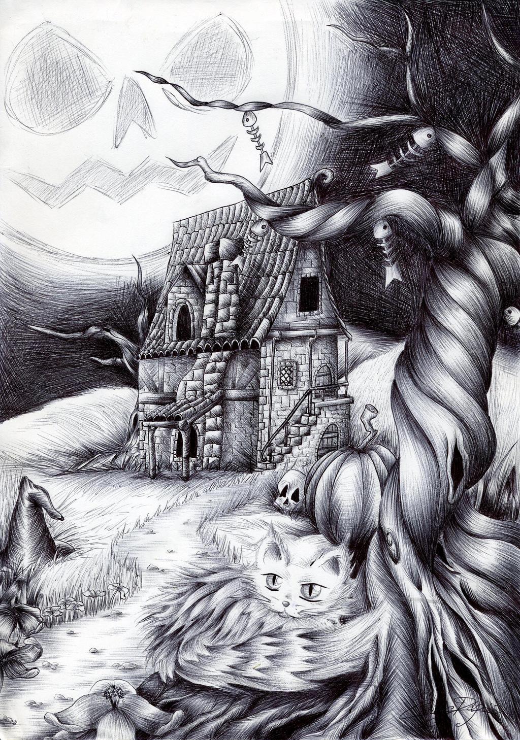 Moon Cat by x-Tsila-x