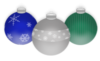 Holiday Ornaments by drkdsgn
