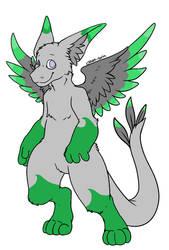 GrayGreen Angel Dragon Adopt CHEAP by earthy-rah