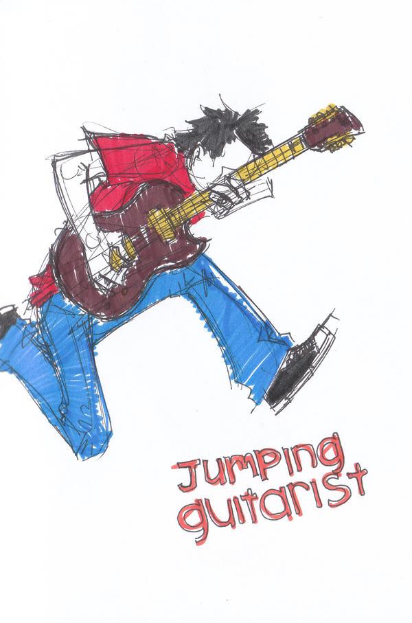 JUMP : gitaris berkasut hitam by hardspirits