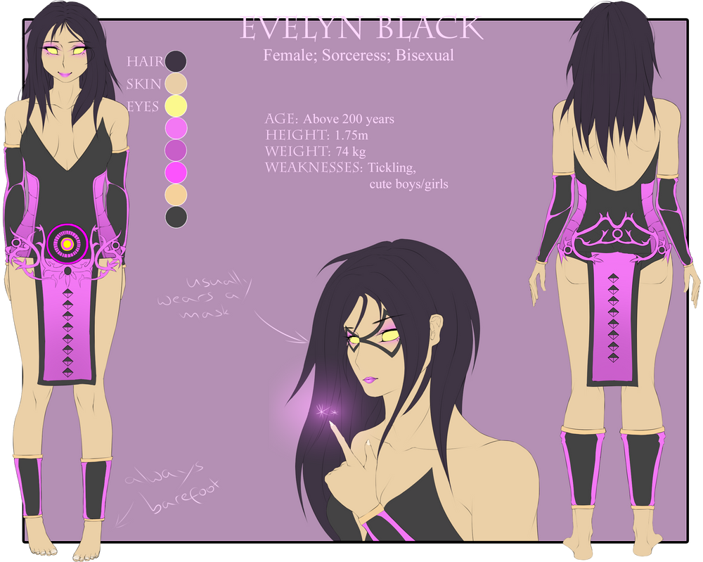 Evelyn Reference Sheet [Request] by Silverleinchen