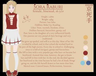 Sora Raburi [Reference Sheet] by Silverleinchen