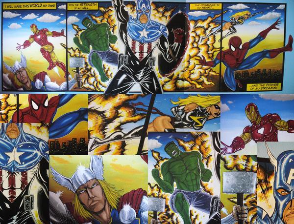 The avengers mural by arcticninja77 on deviantart for Avengers mural poster