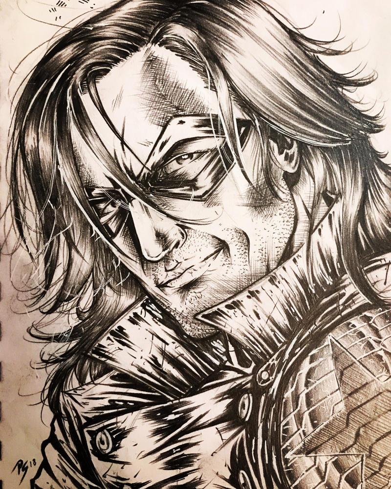 The Winter Soldier Bucky Barnes by ArcticNinja77