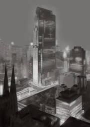 Rockefeller Center 1933 by LasrinDync