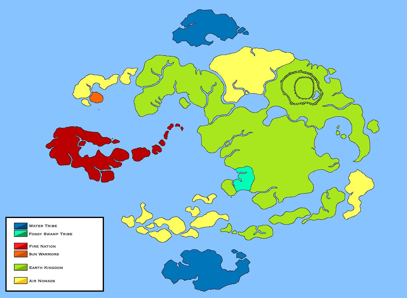 World of avatar political map pre 100 years war by loudo on deviantart world of avatar political map pre 100 years war by loudo gumiabroncs