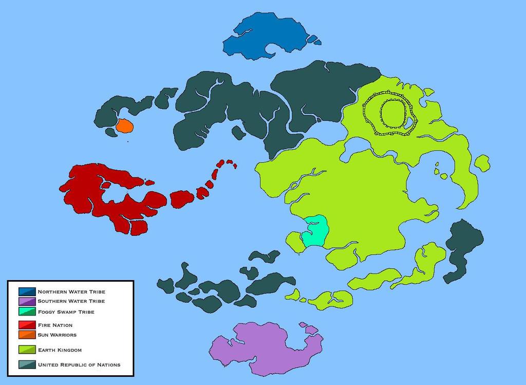 World of Avatar Political Map Legend of Korra by Loudo on DeviantArt