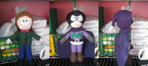 Mysterion and Karen from South Park by indigoburulove