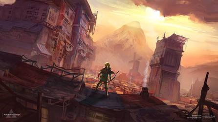 Kakariko Village - Zelda Open World by Mei-Xing