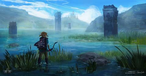 Lake Hylia - Zelda Open World by Mei-Xing