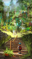 017 - Walk in the Forest by Mei-Xing