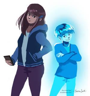 Blue Alter Ego - Character Art 01