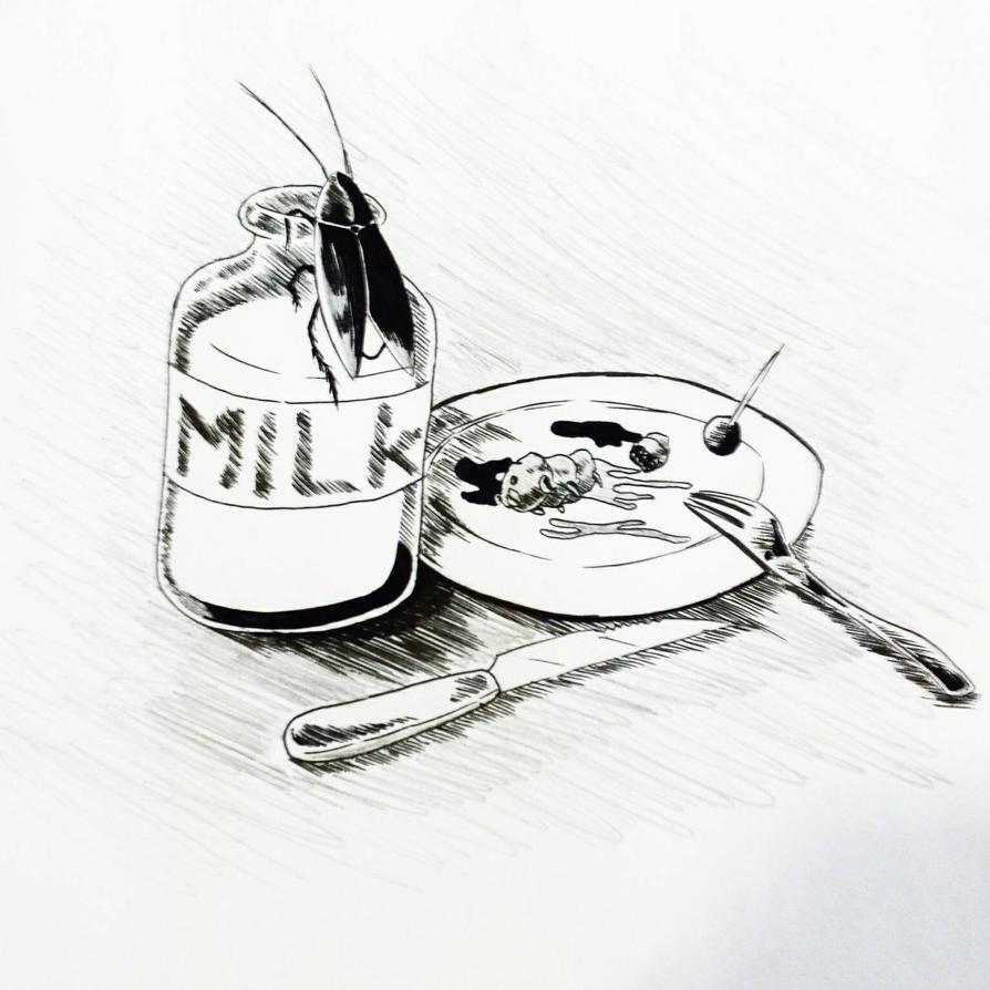 Inktober day 5: A Dystopian Meal by NekOTAKUBox