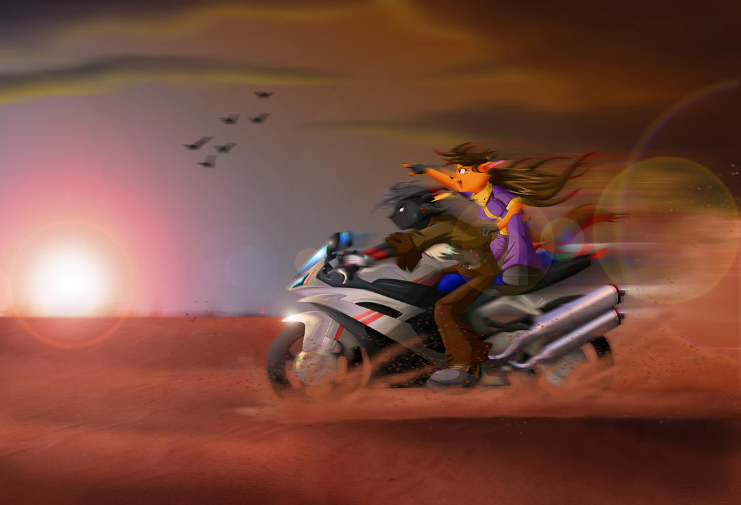 Race for the Sun by Wastelands-Knight