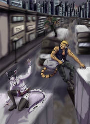 :Commission: Escape from the city
