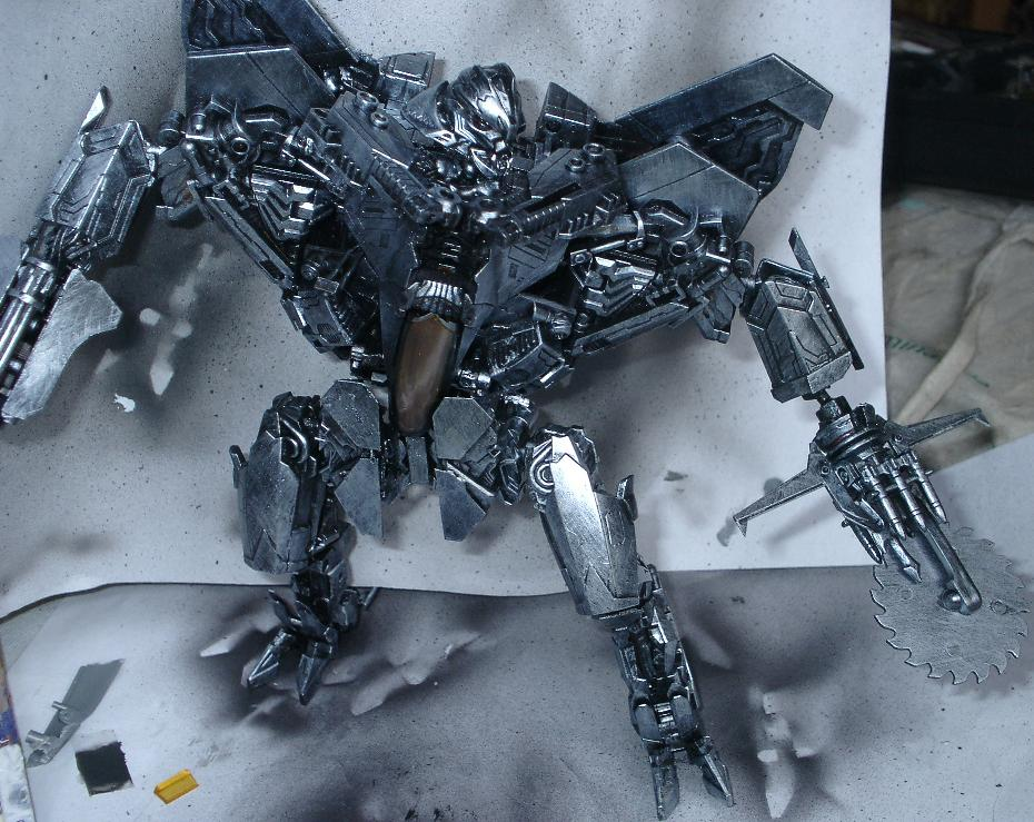 Starscream 3 wip, silver foundation added pic 1 by Catskind