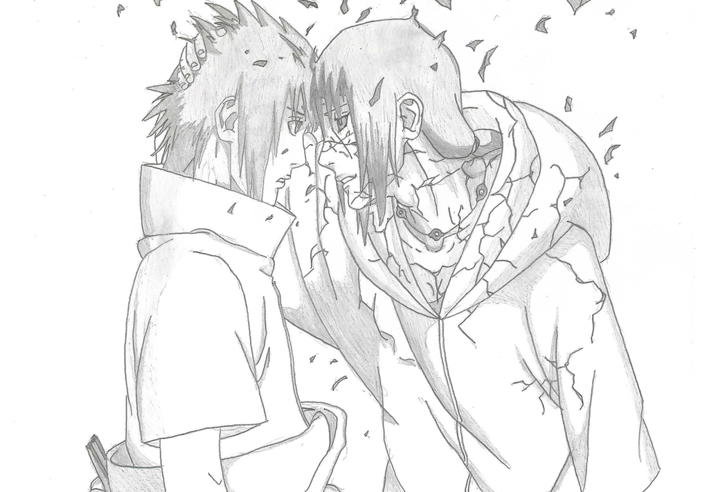 drawing of uchiha sasuke and uchiha itachi by xlleonardo