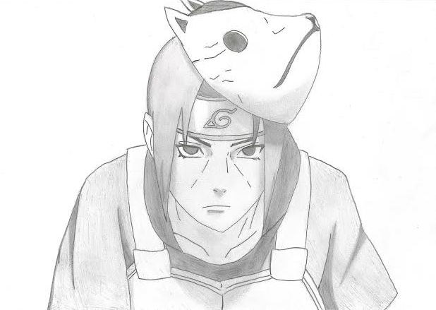 Drawing Itachi by xlLe...