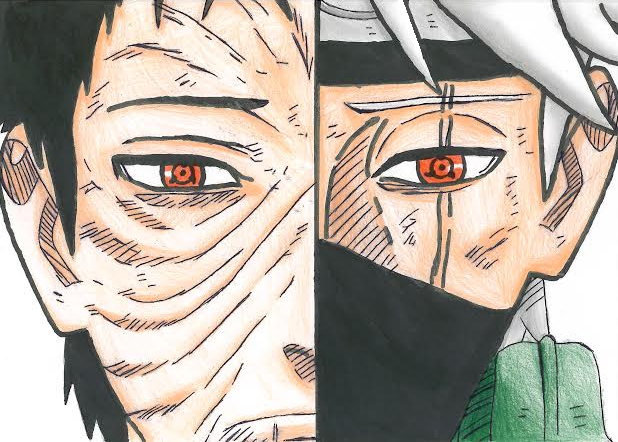 Drawing Obito and Kakashi by xlLeonardo on DeviantArt