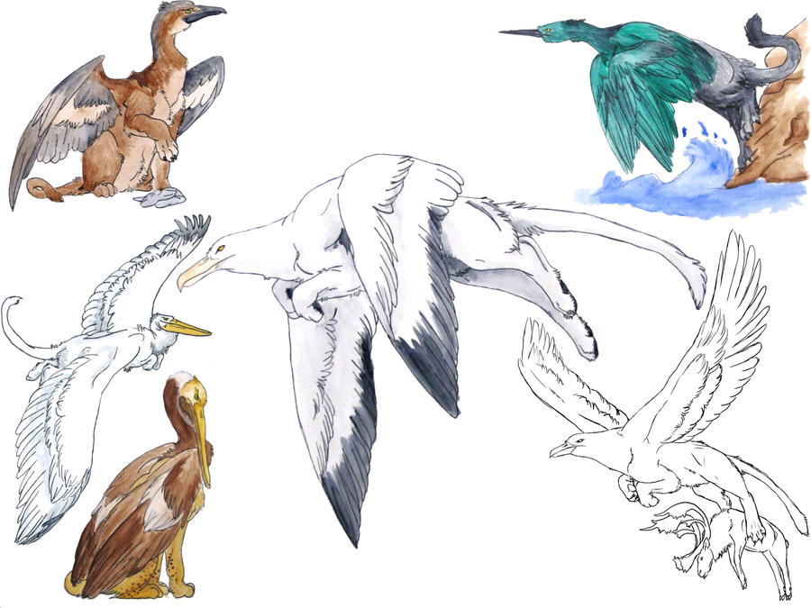 Gryphon Paintings III by redvarg