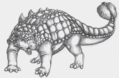 Ankylosauridae by SargassosArt