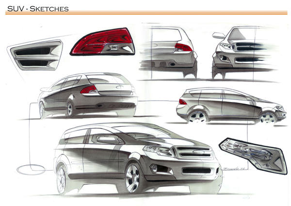 Suv Sketch Ford By Cgzanardo On Deviantart