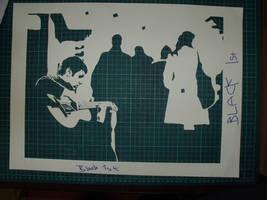 'city busker' stencil  T3 by T3-art