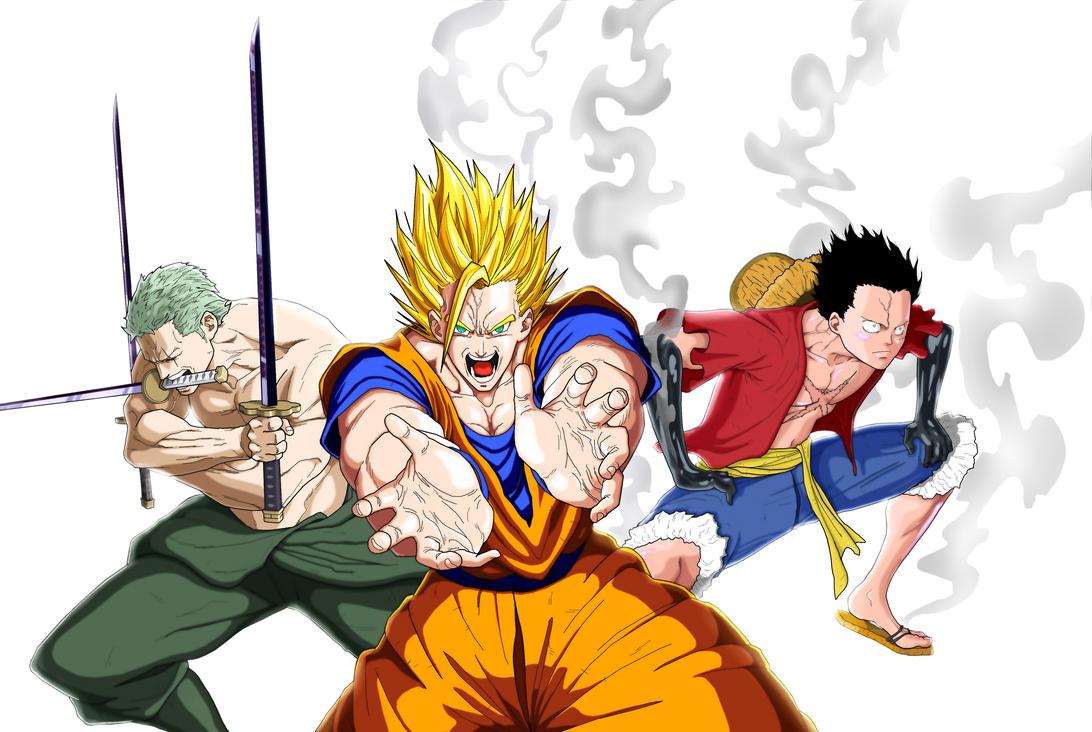 Zoro Goku Luffy by dar...