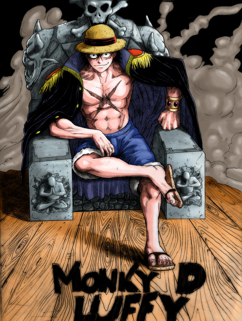 Monkey D Luffy The King Of Pirates colored by darkogoku