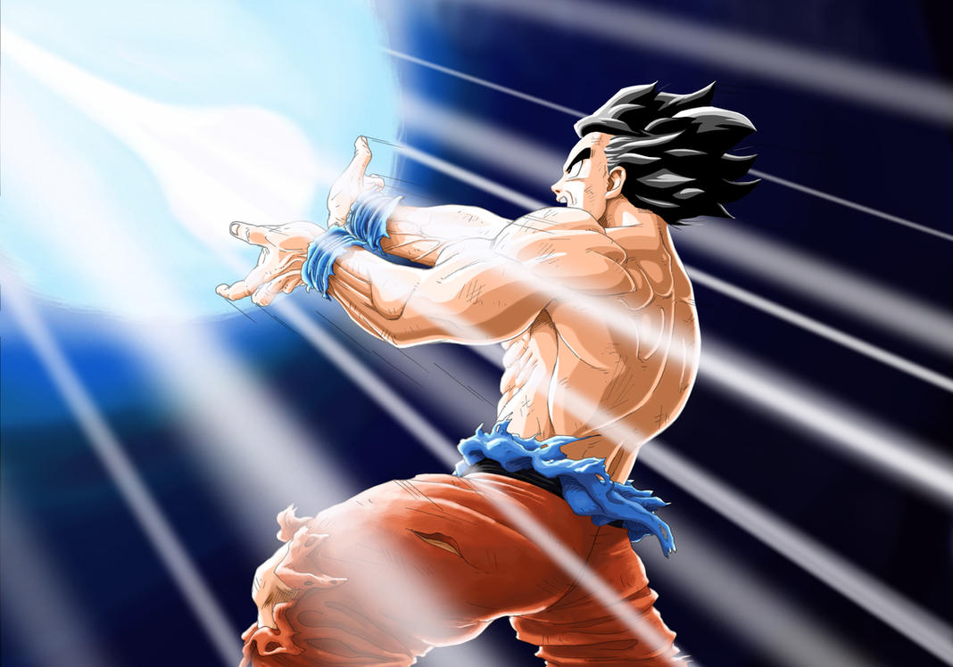 Son Goku-Kamehameha Wave by darkogoku