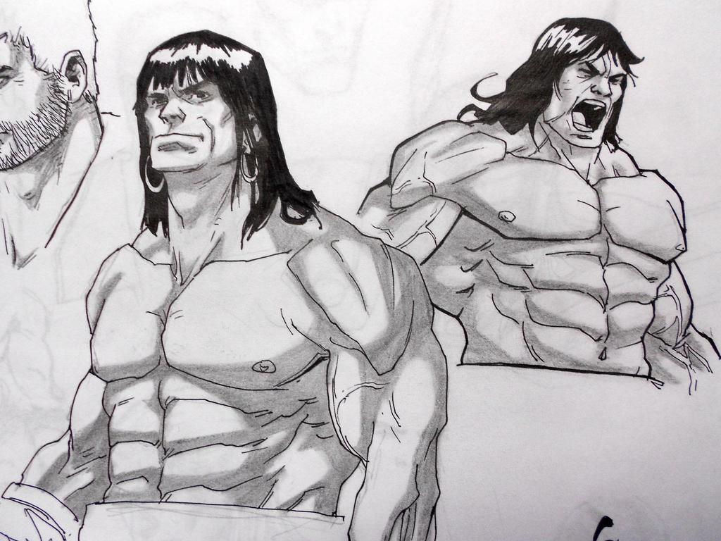 Conan the Barbarian - skech by darkogoku