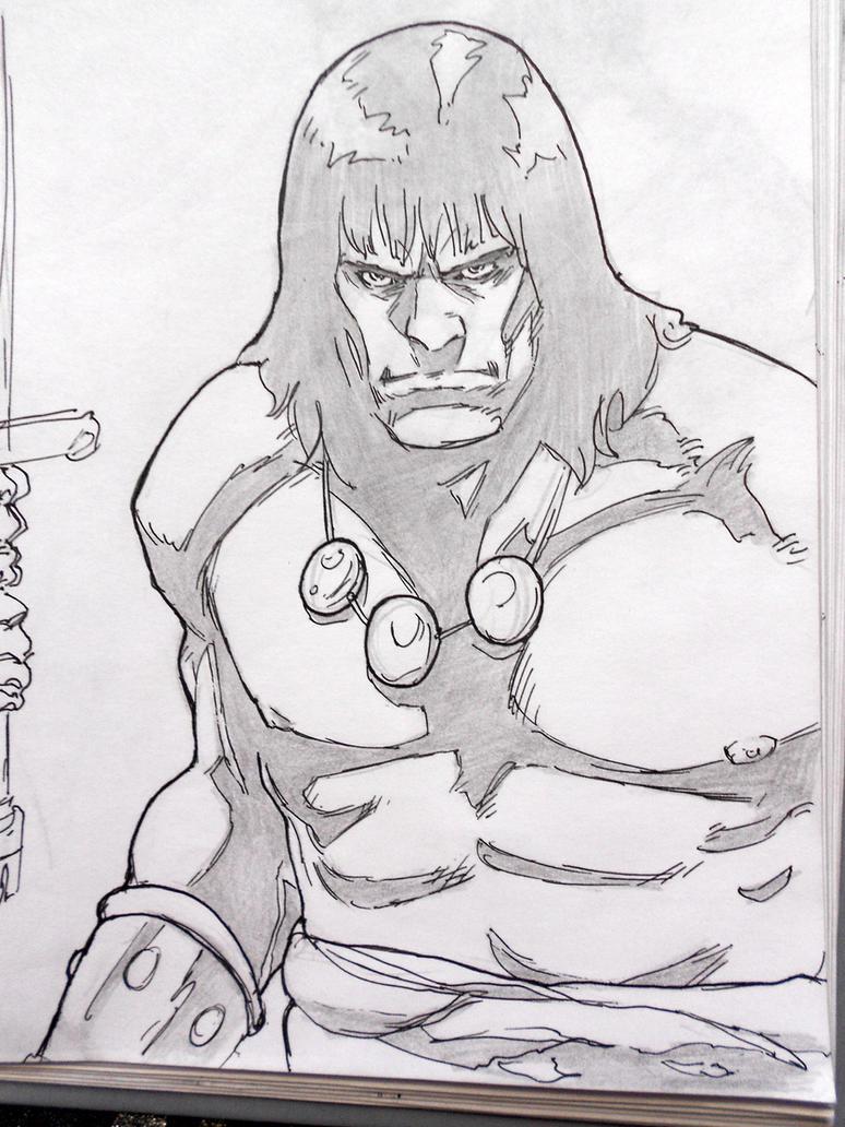 Conan the Barbarian - skech 2 by darkogoku