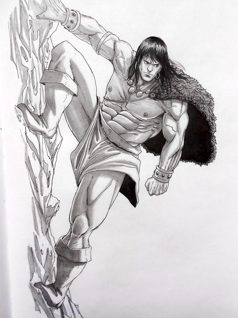 Conan the Barbarian - skech 3 by darkogoku