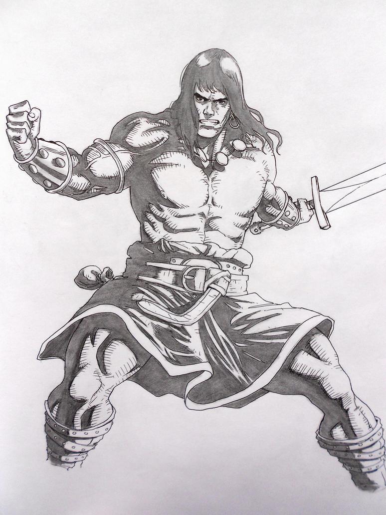 Conan the Barbarian - skech 4 by darkogoku