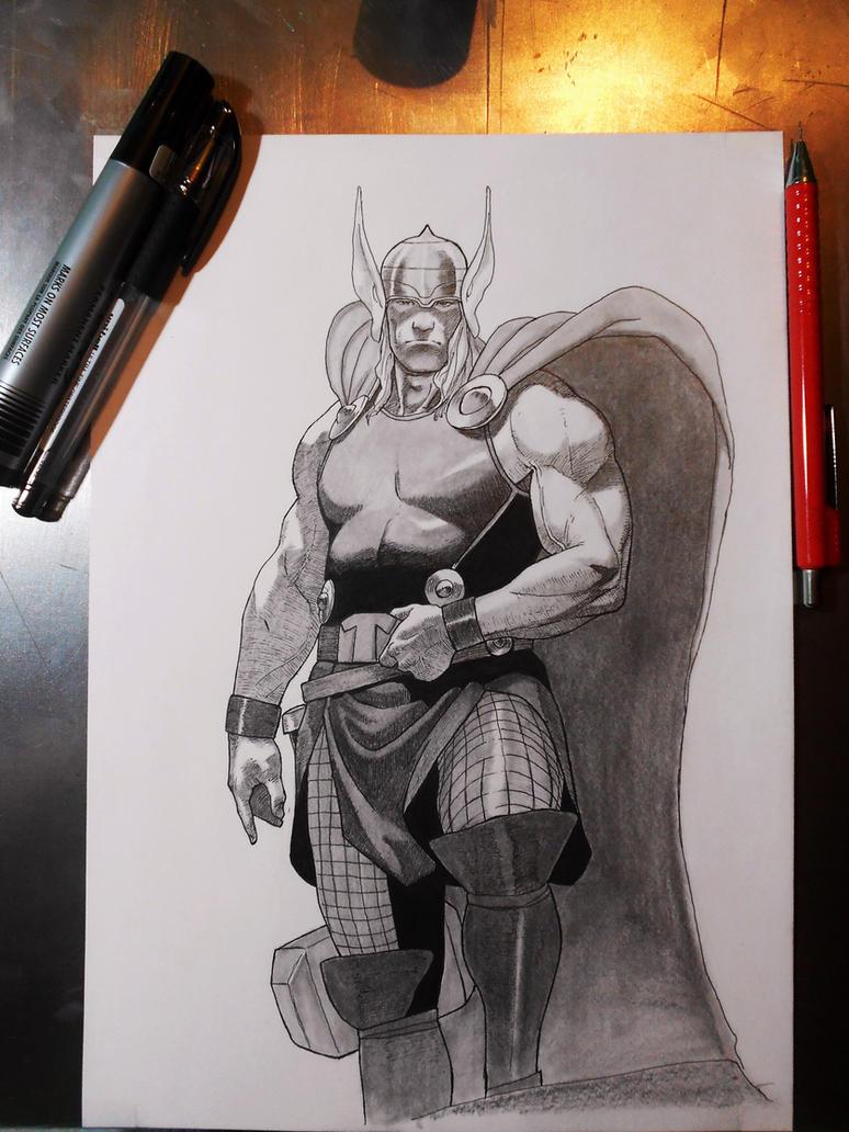 Thor The God Of Thunder by darkogoku