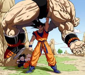 Son Goku vs Nappa - Final Strike by Darko-simple-ART