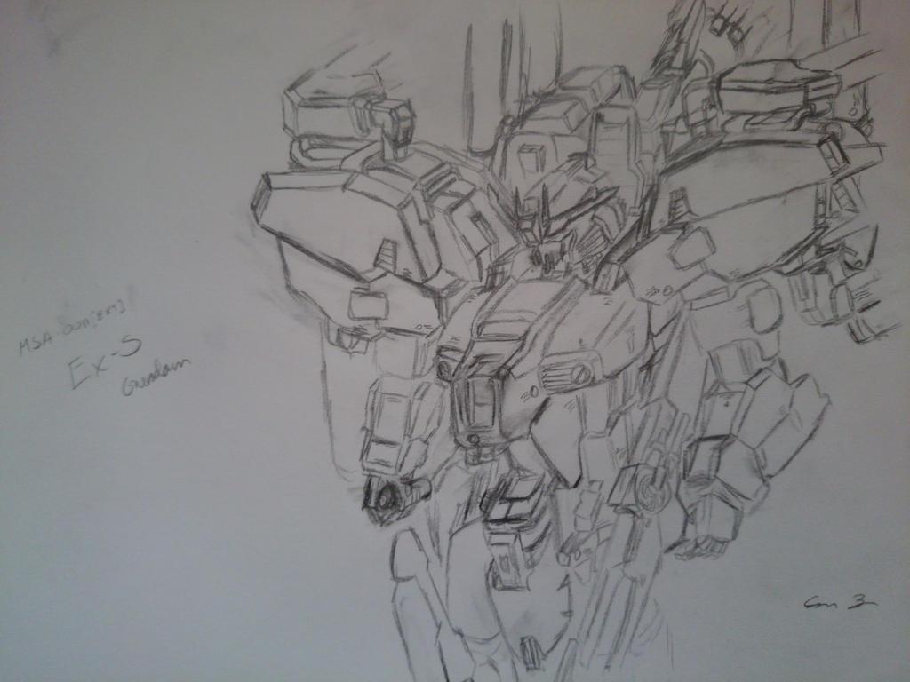 EX-S Gundam by Ayphverus